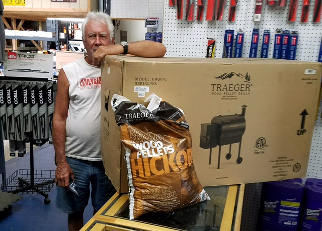 Winner of the Traeger Wood Pellet Grill