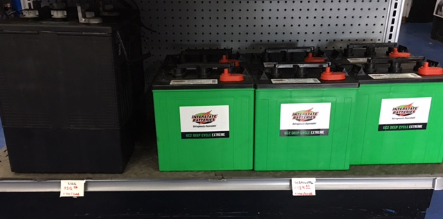 Interstate 6 Volt Batteries L16L $312.02+tax/core GC2ECLUTL $129.61+tax/core