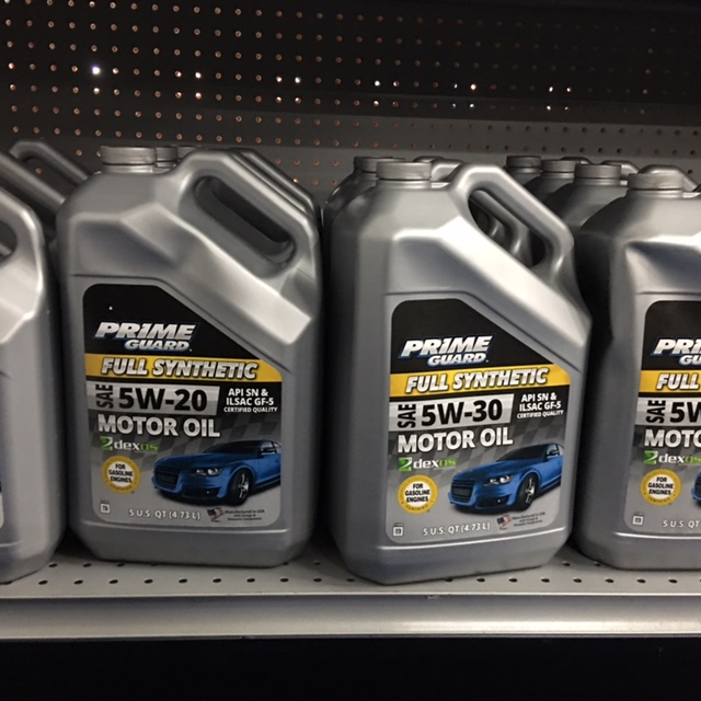 5 Quart Synthetic Prime Guard 5w20 or 5w30 $21.84 + tax